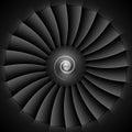 Jet engine turbine blades llustration Royalty Free Stock Image