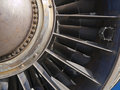Jet Engine Turbine Detail Stock Images