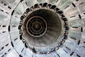 Jet engine view of from behind Stock Photo