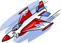 Jet fighter plane cartoon illustration Royalty Free Stock Photo