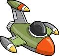 Jet Fighter Vector Illustration Royalty Free Stock Photo