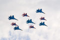 Jet fighters in formation Royalty Free Stock Image