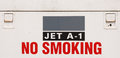 Jet fuel sign no smoking Stock Photo