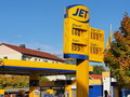 Jet fuel station in germany with the prices on Royalty Free Stock Image