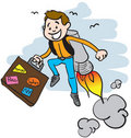 The jet pack traveller Stock Images