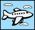 Jet plane flying in the sky Stock Photo