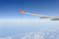 Jet plane wing Stock Photography