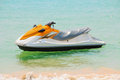 Jet ski on the beach Stock Photography