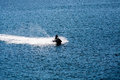 Jet Ski Sillouette on Blue Royalty Free Stock Photo