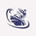 Jet ski stylized vector symbol