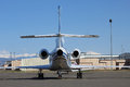 Jet on tarmac a private parked the Royalty Free Stock Photography