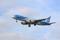 Jetairfly embraer erj approaching Royalty Free Stock Photo
