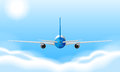 A jetplane illustration of big Stock Photography