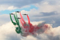 Jets formation with color smoke