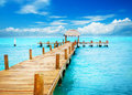 Jetty on Caribbean Sea Royalty Free Stock Image