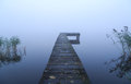 Jetty and fog