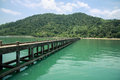Jetty koh chang pier traditional occupation remains Royalty Free Stock Images