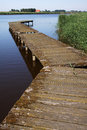 Jetty old and scenic in a lake Royalty Free Stock Photography
