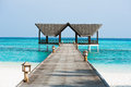 Jetty over the indian ocean beautiful Royalty Free Stock Photos