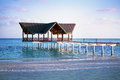 Jetty over the indian ocean beautiful Stock Photography