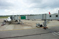 Jetway to a plane in airport Royalty Free Stock Photo