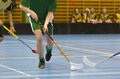 Jeu de Floorball Photographie stock