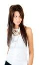 Jeune belle pose de femme Photo stock