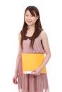 Jeune femme d'affaires asiatique Photographie stock libre de droits