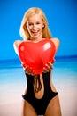 Jeune femme dans le bikini Photographie stock libre de droits