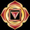 Jewel Medallion like Hindu Chakra of Muladhara Stock Photography
