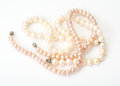 Jewel of pink pearls. Royalty Free Stock Photo