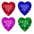Jewel set heart vector illustration clip art Royalty Free Stock Images