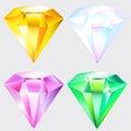 Jewel shiny gem Royalty Free Stock Photo