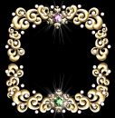 Jeweled winter frame Royalty Free Stock Photo