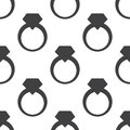 Jewelery ring, vector seamless pattern