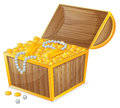 A jewellery box illustration of on white background Stock Photography