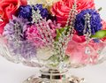 Jewellery on the flowers Royalty Free Stock Photo