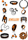 Jewellery silhouette Royalty Free Stock Photo
