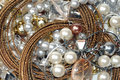 Jewelry background these are many jewels necklaces pearls earrings as Royalty Free Stock Image