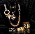 Jewelry on black background Royalty Free Stock Image
