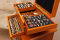 Jewelry box with rings and bracelets Royalty Free Stock Photo