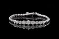 Jewelry diamond bracelet on a black background Royalty Free Stock Photo