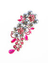 Jewelry expensive brooch isolate on white background Stock Photos