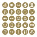 Jewelry flat glyph icons, jewellery store signs. Jewels accessories - gold engagement rings, gem earrings, silver chain Royalty Free Stock Photo