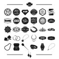Jewelry, gold, products and other web icon in black style.cross, silver, Pendant, icons in set collection.