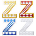 Jewelry letter Z Royalty Free Stock Photography