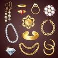 Jewelry Realistic Set