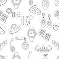 Jewelry Seamless Pattern, Vect...
