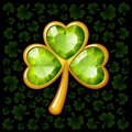 Jewelry shamrock Stock Photos
