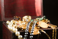 Jewels and gold coins Royalty Free Stock Images